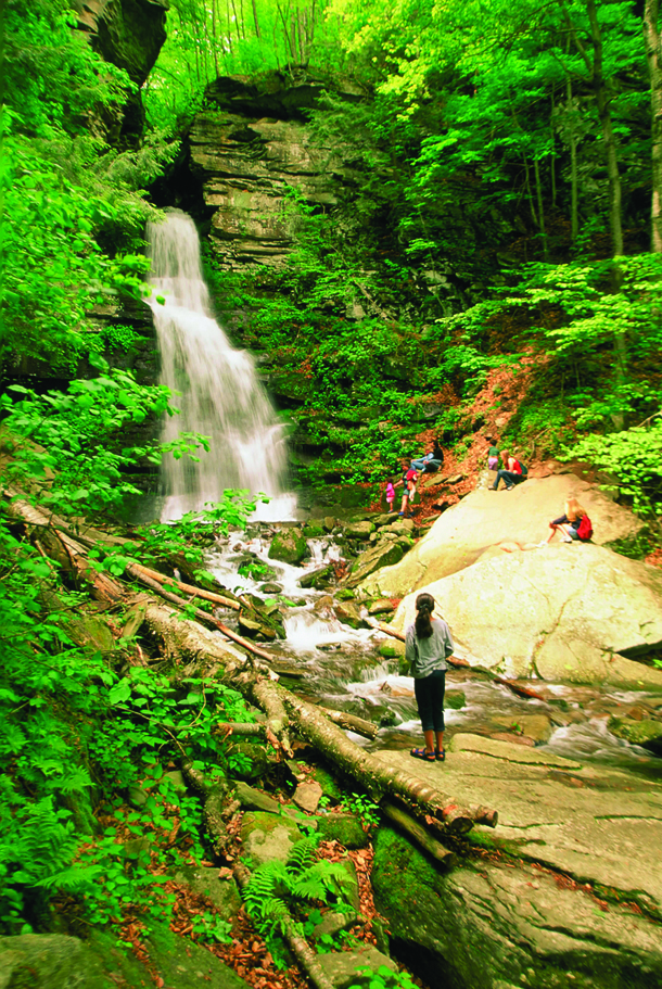 waterfall-coverted-Minnewaska-St-park